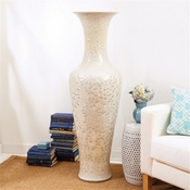 Tozai Home Long Necked Vase With Mother Of Pearl Effect