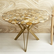 """Tozai Home Natural Agate 36"""" Round Table"""