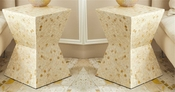 Tozai Home Pair of Hexagon Circles Side Tables/Stools