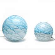 Tozai Home Set of 2 Grey/Blue Swirl Table Lamps
