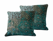 Tozai Home Tapestry Green Pillows - Set of 2