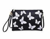 Urban Expressions Papillon Black & White Clutch