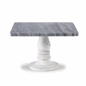 White-Wash Marble Pedestal - CLOSEOUT