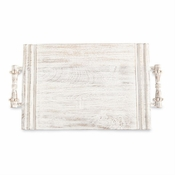 SOLD OUT White-Washed Beaded Serving Board