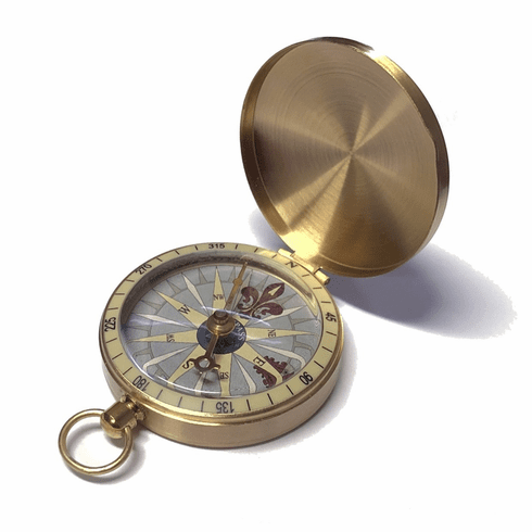 Ambler Brass Pocket Compass