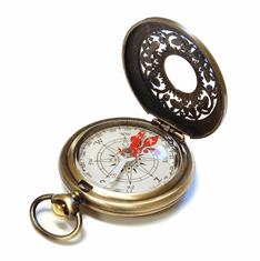 Jardin Bronze Pocket Compass
