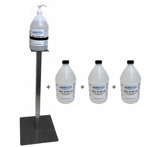 1 Gallon Jug Sanitizer Stand with 4 Jugs of Hand Sanitizer