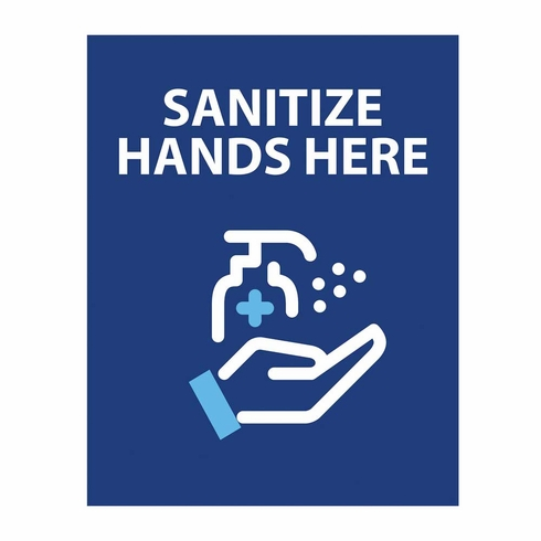 """11"""" x 14"""" Double Sided Hand Santizer Printed Graphic"""