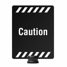 "11"" x 14"" Post-Top Caution Sign for Tempest Stanchion"