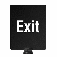 "11"" x 14"" Post-Top Exit Sign for Tempest Outdoor Stanchion"