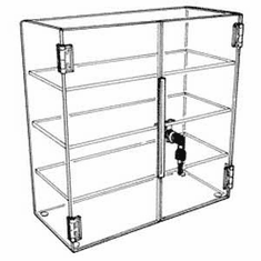 13in.H x 21in.W x 7-1/2in.D Acrylic Hinged Front-Door Case