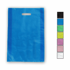 14in. x 21in. x 3in. Die Cut Handle Frosted Shopping Bags