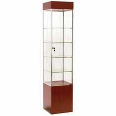 "16"" Square Tower Case Cherry with Chrome Frame"