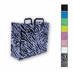 16in. x 16in. x 6in. Folded Handle Frosted Shopping Bags