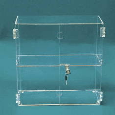 17in.H x 16-1/4in.W x 7in.D Acrylic Hinged Front-Door Case