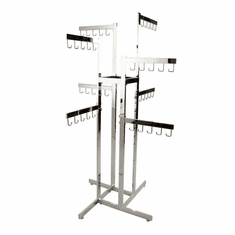 2-Tier Handbag Rack w/ 8 Arms - Rectangular Tubing