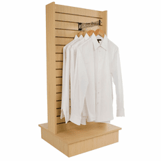 2-Way Slatwall Merchandiser Maple