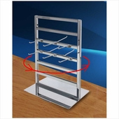 2-Way Spinning Jewelry Tower Chrome