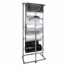 3 Roll Polyethylene Garment Bag Dispensing Rack