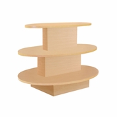 3-Tier Oval Display Table Maple