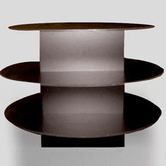 3 Tier Oval Table Black