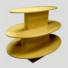 3 Tier Oval Table Maple