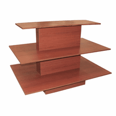 3 Tier Rectangular Waterfall Table Cherry