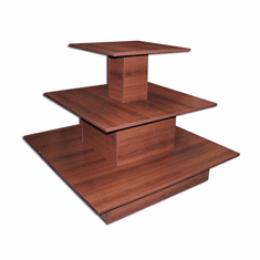 3 Tier Square Waterfall Table Cherry
