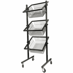 3-Tier Wire Basket Display