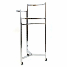 "36"" Tri-Level Round Rack Chrome w/Casters"