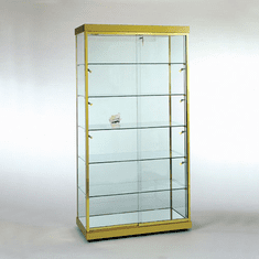 4 Foot Rectangular Wall Display Case