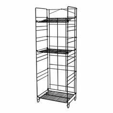 4-Shelf Black Merchandising Rack
