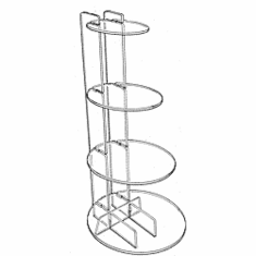 4 Shelf Interlocking Disc Risers