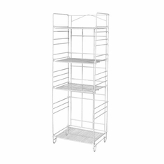 4-Shelf White Merchandising Rack