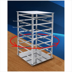 4-Way Spinning Jewelry Tower Chrome