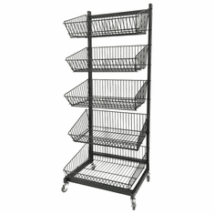 5-Tier Wire Basket Display
