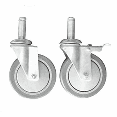 5in. Gray Casters Box of 20