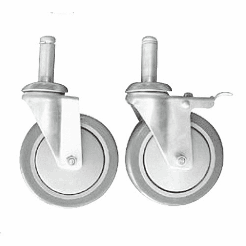 5in. Heavy Duty Casters for Wire Shelving