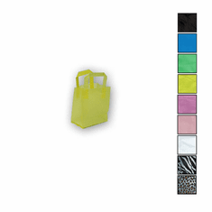 5in. x 7in. x 3in. Folded Handle Frosted Shopping Bags
