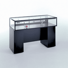 60in. Sit Down Jewelry Display Case with Boxed Frame