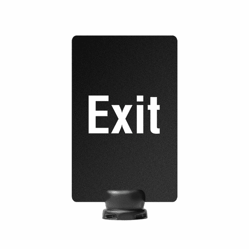 "7"" x 11"" Post-Top Exit Sign for Tempest Outdoor Stanchion"