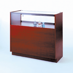 72in. Quarter Vision Jewelry Display Case with Wood Sides