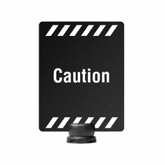 "8.5"" x 11"" Post-Top Caution Sign for Tempest Stanchion"