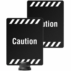 "8.5"" x 11"" Post-Top Double Sided Caution Sign for Tempest"