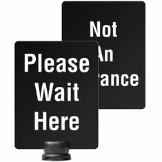 """8.5"""" x 11"""" Post-Top Please Wait Here/Not an Entrance Sign for Tempest"""