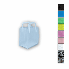 8in. x 10in. x 5in. Folded Handle Frosted Shopping Bags