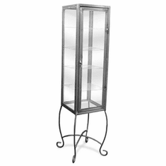 Aaron Contemporary 4 Glass Shelf Showcase with Lock