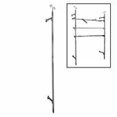 Aaron Contemporary Raw Steel Square Tube Outrigger 96""