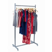 Aaron Contemporary Rolling Garment Rack