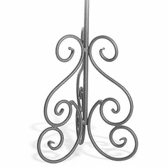 Aaron Contemporary Triple Scroll Base with Long 7/8in. Stem